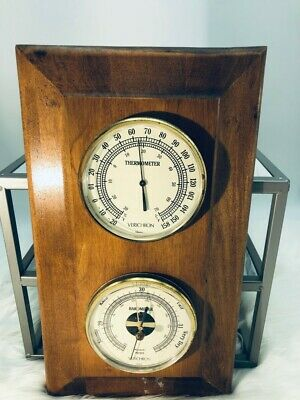 Vintage France / Verichron Wall Weather Station Barometer ~Thermometer