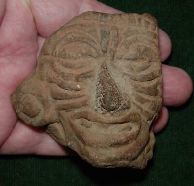 Teotihuacan/Toltec Stone or Terracotta head of the Fire God Huehueteotl - 500 AD