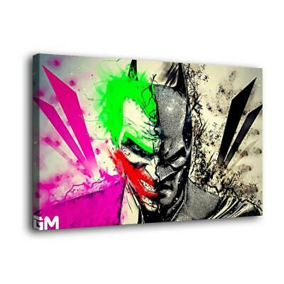 "12""x20""  Batman Clown HD Canvas prints Painting Home Decor Picture Room Wall art"