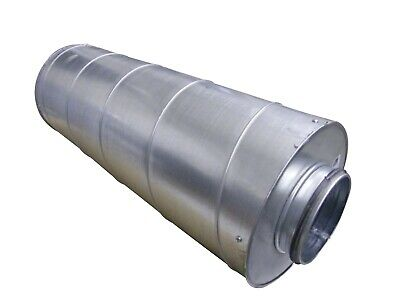 Tube Silencer 125 mm Connection Length 60 cm Spiral Ducts