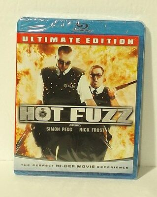 Hot Fuzz Ultimate Edition (Blu-ray Disc, 2010, Canadian) NEW AUTHENTIC REGION A