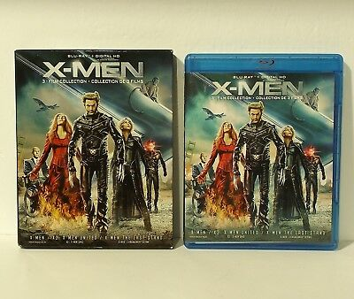 X-MEN 3-FILM COLLECTION blu-ray Canadian mint discs with SLIPCOVER