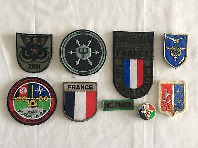 Lot Ecussons Obsolete - Armee Française - RENS - NCC - Opex Afgha + Metal- Lot 4