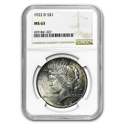 1922-D Peace Dollar MS-63 NGC - SKU #21198