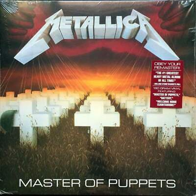 Metallica Master Of Puppets LP VINYL Blackened Recordings 2017 NEW