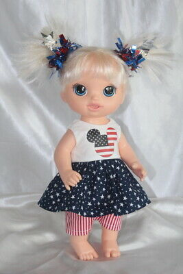 Patriotic Dress Outfit fits 12inch Baby Alive Doll Clothes Lot