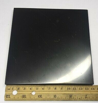Shungite Tile Plate 140 x 140 mm approx size 5.5 x 5.5 inch POLISHED thick 10 mm