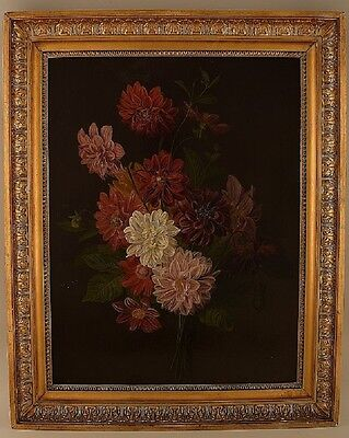 Old master. Oil on wood, 1780s-1820s. Flowers. Painting of very high quality.