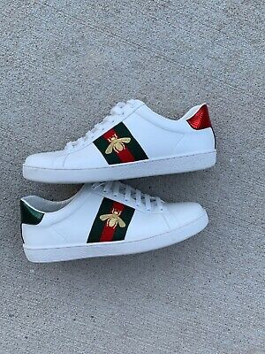 big sale 13706 79bc1 GUCCI MENS WHITE HIGH-TOP SNEAKERS Size : 10.5Gucci Size ...