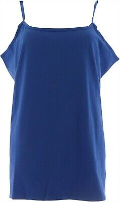 Liz Claiborne NY Essentials Scoop Neck Camisole Midnight Blue L NEW A264114