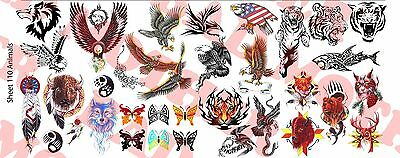 1//6 Scale Custom Tattoos Waterslide Decals Snakes Wings and Skulls pack