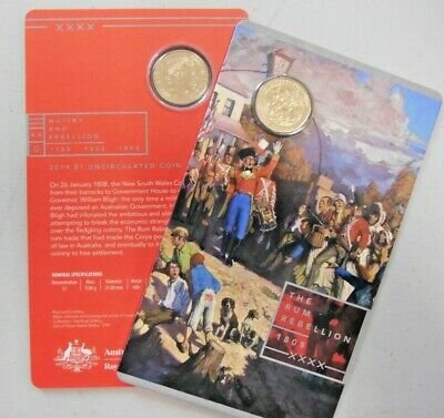 2019 RUM REBELLION 1808 $1 One Dollar UNC Coin Carded RAM