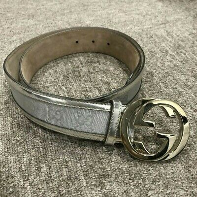 baa0e81b0 $22.20 Buy It Now 7d 1h. See Details. Gucci GG logo belt buckle / leather  silver 85/34 Size No box tracking number