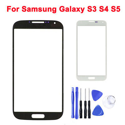 Quality Front Glass Outer Touch Screen Black Lens For Samsung Galaxy S3 S4 S5