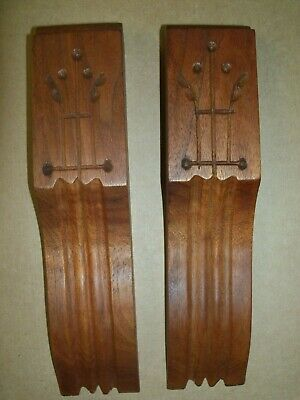 Antique Victorian Eastlake Walnut Spoon Carved Trim Corbels Salvage Pieces