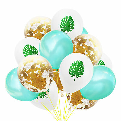 12'' Leaf Pineapple Confetti Latex Balloons Hawaii Tropical Party Decor New