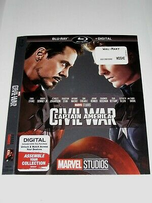 Captain America Civil war (Blu Ray slip cover only) No Disc No Blu Ray