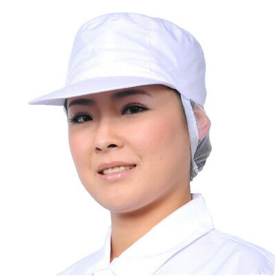 Women White Catering Hat Chef Bakers Bouffant Cap Food Hygiene Snood Cap #AM8