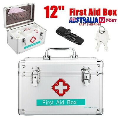 2'' Family Office Deluxe Lockable Medicine Storage Box First Aid Carry Case