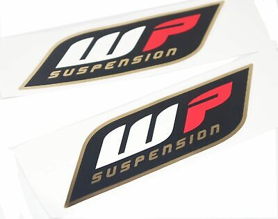 WP Suspension White Surround Upper Fork Black On Clear Decal Sticker MX 67