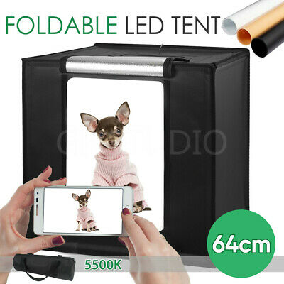 64CM Photography Studio LED Light Tent Photo Lighting Soft Box Cube Kit Portable