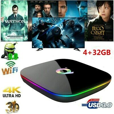 Q Plus Smart TV Box Android9.0 32G 6K H.265 HD 3D Media Player WiFi Set Top Box