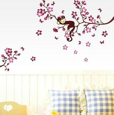 Removable Art Vinyl Quote DIY Monkey Wall Sticker Decal Mural Room Decoration 01
