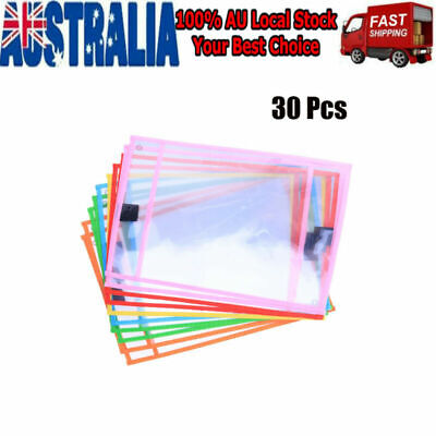 30pcs with Pen Case Assorted Colors Dry Erase Random Color Stationery for School
