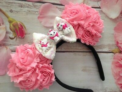 Marie the Cat Minnie Mouse Ears Headband-The Aristrocats-Disneyland-Disney World
