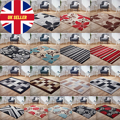 New Modern Floral Blocks Carved Rug High Quality Rug Thick Pile Rugs at Low Cost