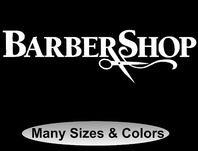 Barbershop Wall Vinyl Decal Sticker Hairdressing Salon Logo Art Decor Barber
