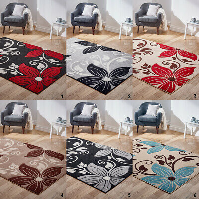 New Modern Floral Carved High Quality Flower Rug Thick Pile Rugs Cheap Price Rug