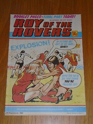 Roy Of The Rovers 20Th September 1980 Football British Weekly_
