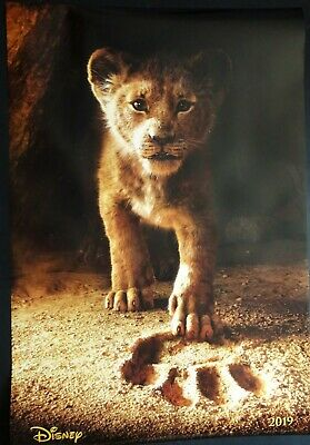 The Lion King 2019 One Sheet Poster Donald Glover Chiwetel Ejiofor Disney