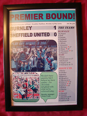 Burnley 1 Sheffield United 0 - 2009 Championship play-off final - framed print