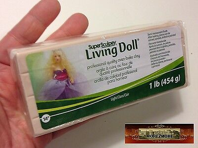 M00383 MOREZMORE 1 lb Living Doll LIGHT Polymer Clay Super Sculpey