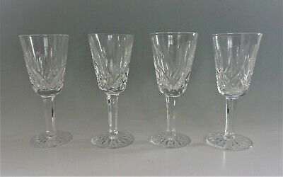 "Waterford Crystal Lismore Sherry Glasses 5 1/8"" Set of 4"