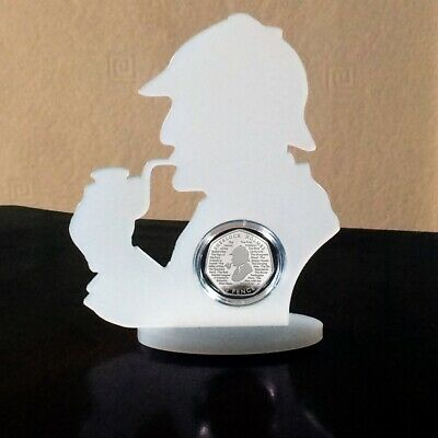 50p Sherlock Holmes Display In Perspex Frame Including capsule COIN NOT INCLUDED