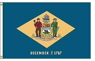 Delaware 5ftx8ft Nylon State Flag 5x8 Made In USA 5'x8'