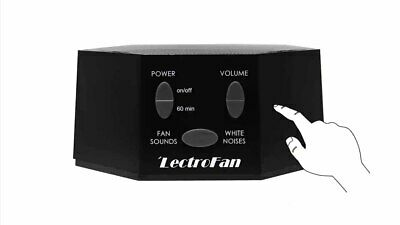 LectroFan White Noise Machine with 20 Unique Non-Looping Sounds, Black, NEW