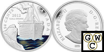 2012 'RMS Titanic' 50-Cent Silver Plated Coin  (12977) (OOAK)