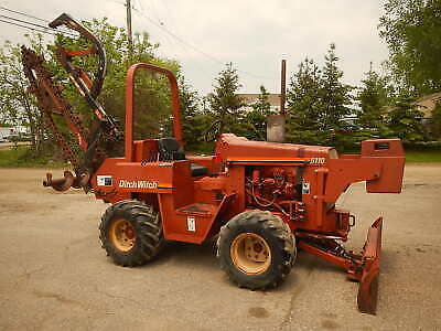 DITCH WITCH 5110 Duetz 3 Cylinder  Diesel 58HP  RIDE ON TRENCHER-7 Foot Trench