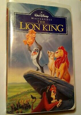 1995 Walt Disney Masterpiece The Lion King VHS 2977 Very Rare