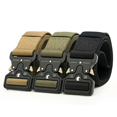 49*1.8'' Men Military Belt Buckle Combat Waistband Nylon Tactical Rigger Belt