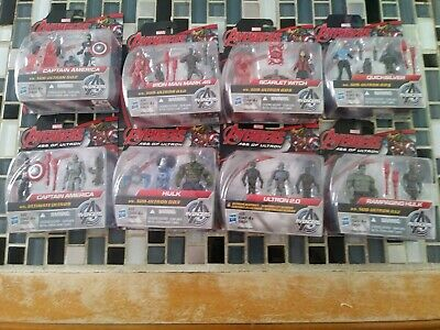 Marvel Avengers Age of Ultron.  2.5 inch Figures Lot of 8 packages.