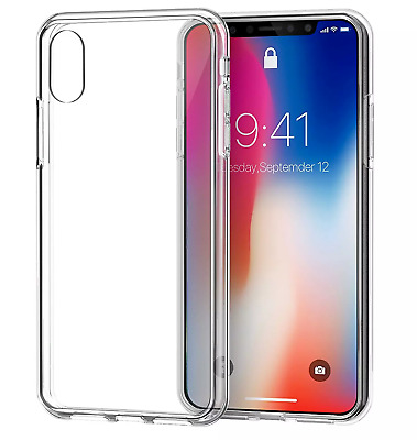 For iPhone XR Case Shock Proof Clear Soft Silicone Gel Bumper Cover Slim New UK