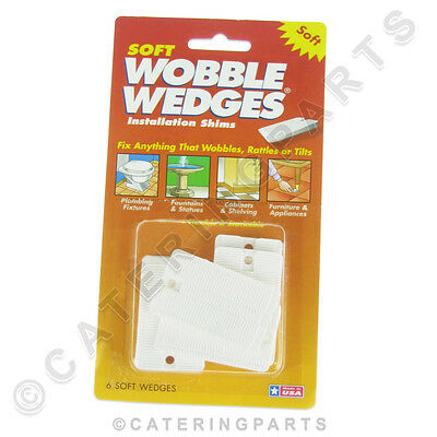 Soft Wobble Wedges Pack Of 6 Tapered Plastic Shims For Appliance Feet Table Legs