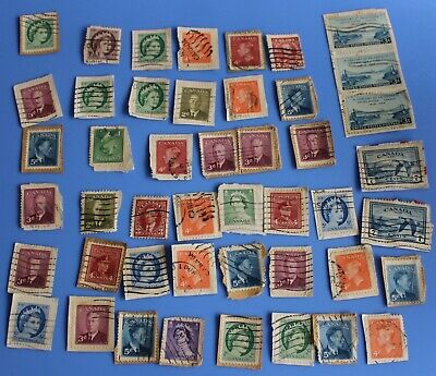 1900-1940's CANADA  Postage Stamps Lot of 165