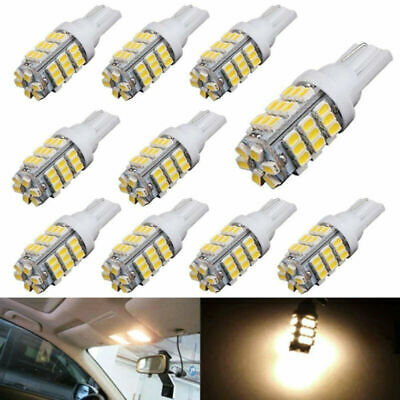 10Pcs Warm White T10 921 194 RV Car 42 SMD DC 12V Backup Reverse LED Light Bulb
