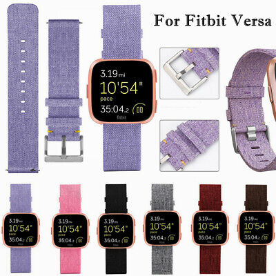 For Fitbit Versa Replacement Woven Fabric Nylon Wristband Watch Band Strap